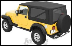 BESTOP Replace-A-Top With Tinted Rear Windows In Sailcloth Black For 2004-06 Jeep Wrangler TLJ Unlimited With Factory Steel Doors 79140-35