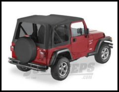 BESTOP Replace-A-Top Factory With Tinted Windows For 2003-06 Jeep Wrangler TJ Factory Top 79141-35