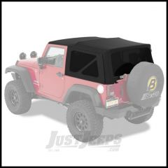 BESTOP Replace-A-Top With Tinted Windows For 2010-18 Jeep Wrangler JK 2 Door Models (Black Twill) 79846-17