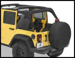 BESTOP Sport Bar Covers In Black Diamond For 2007-18 Jeep Wrangler JK Unlimited 4 Door Models 80025-35