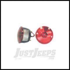 Omix-ADA Round Tail Lamp Light Right for 1946-75 Jeep CJ21 CJ3A CJ3B CJ5 CJ7 12403.02