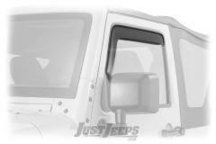 WeatherTech Front Side In-Channel Window Deflectors For 2007-18 Jeep Wrangler JK 2 Door & Unlimited 4 Door Models 70443-