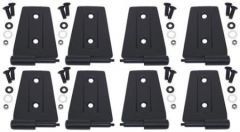 Kentrol Body Door Hinge Set Outer in Black Texture For 2007-18 Jeep Wrangler JK Unlimited 4 Door Models (8-Piece) 80576