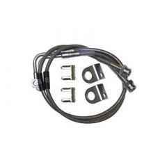 Synergy MFG Extended Stainless Steel Brake Line Kit For 2007-18 Jeep Wrangler JK 2 Door & Unlimited 4 Door Models 8066