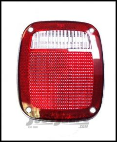 Omix-ADA Tail Lamp Passenger or Drivers Lens Only For 1976-86 Jeep CJ Series & 1987-2006 Wrangler YJ & TJ Models 12404.01