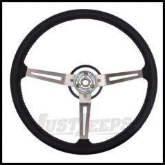 Omix-ADA Steering Wheel Leather Black For 1976-95 Jeep CJ Series, Wrangler YJ & Full Size 18031.06