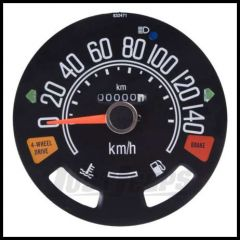 Omix-ADA Speedometer Head For 1980-86 CJ Series OE Style Guages not included 0-140 KPH 17207.04