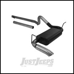 FlowMaster Force II Cat Back System 409 Stainless Steel With Single Side Exit For 2007-18 Jeep Wrangler JK 2 Door & Unlimited 4 Door Models (Includes Extension to Cat) 817514