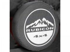 """MOPAR Jeep Tire Cover in Black Denim with """"Rubicon 4x4"""" 82209954AB"""