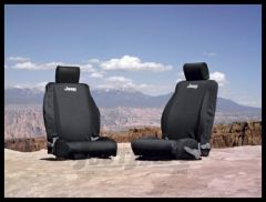 MOPAR (Black) Front Seat Covers Black For 2011-12 Jeep Wrangler JK 2 Door & Unlimited 4 Door Models 82212596