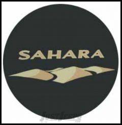 MOPAR Jeep Tire Cover in Black Denim with Sahara Logo 82212321