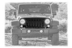 MOPAR Matte Black Grille Assembly For 2007-18 Jeep Wrangler JK 2 Door & Unlimited 4 Door Models 82213772AB