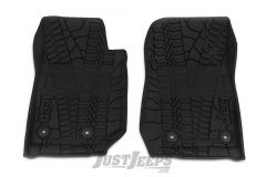 MOPAR Front Floor Liner With Jeep Logo For 2014-18 Jeep Wrangler JK 2 Door Models 82213861
