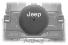 "MOPAR Spare Tire Cover ""Jeep"" Logo For 2018+ Jeep Wrangler JL 2 Door & Unlimited 4 Door Models With 32"" Tires 82215434"