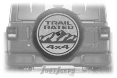 "MOPAR Spare Tire Cover ""Trail Rated"" Logo For 2018+ Jeep Wrangler JL 2 Door & Unlimited 4 Door Models With 32"" Tires 82215438"