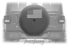 "MOPAR Spare Tire Cover ""American Flag"" Logo For 2018+ Jeep Wrangler JL 2 Door & Unlimited 4 Door Models With 32"" Tires 82215439"