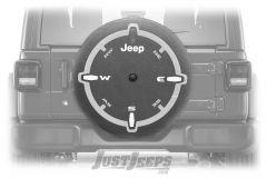 "MOPAR Spare Tire Cover ""Compass"" Logo For 2018+ Jeep Wrangler JL 2 Door & Unlimited 4 Door Models With 32"" Tires 82215446"