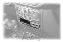 MOPAR Auxiliary Switch Bank For 2018+ Jeep Wrangler JL 2 Door & Unlimited 4 Door Sport, Sport S or Sahara Models 82215190AD