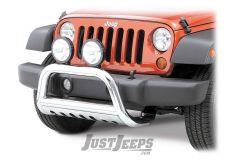"""Rugged Ridge 3"""" Stainless Steel Bull Bar For 2007-09 Jeep Wrangler JK 2 Door & Unlimited 4 Door Models 82501.27"""