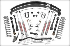 """Rough Country 4½"""" X-Series Suspension Lift System With Premium N3.0 Series Shocks With Full Leafs For 1984-01 Jeep Cherokee XJ 63330"""