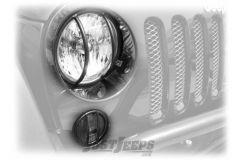 Rampage Euro Light Guards Stainless Steel For 2007-18 Jeep Wrangler JK 2 Door & Unlimited 4 Door Models 85460