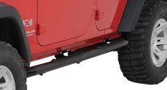 Rugged Ridge Side Step Bars Textured black powder coat For 2007-18 Jeep Wrangler JK 2 Door & Unlimited 4 Door Models 11591.06