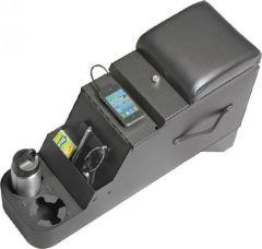 Quadratec iVault Security Floor Console in Black for 76-95 Jeep CJ & Wrangler YJ 14026.215