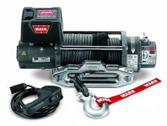 WARN M8000-S Self-Recovery Winch (12V DC) 100' Synthetic Rope and Hawse Fairlead 87800