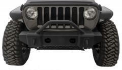 Rampage Front Recovery Bumper Mass Articulation Stubby With Stinger (Textured Black) For 2007-18+ Jeep Wrangler JK/JL 2 Door & Unlimited 4 Door Models 88509
