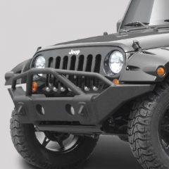 Rampage Front Recovery Bumper With Stinger Textured Finish For 2007-18 Jeep Wrangler JK 2 Door & Unlimited 4 Door (Lights Sold Separately) 88510