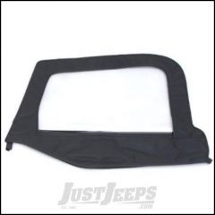 SmittyBilt Replacement Door Skin Driver Side In Black Denim For 1997-06 Jeep Wrangler TJ & TLJ Unlimited Models 89715-01