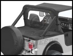 BESTOP Duster Deck Cover In Black Denim For 1987-91 Wrangler YJ With Factory Soft Top Bows Folded Down 90002-15