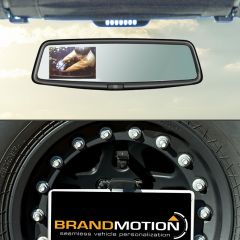 Brand Motion Adjustable Rear Vision System with OEM Mirror Display For 2007-18 Jeep Wrangler JK 2 Door & Unlimited 4 Door