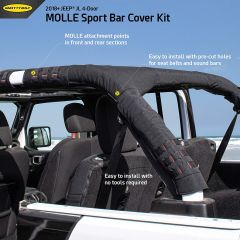 SmittyBilt MOLLE MOLLE Sport Bar Cover Kit For 2018+ Jeep Wrangler JL Unlimited 4 Door Models 5667201