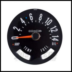 Omix-ADA Speedometer Head For 1955-79 CJ Series OE Style Guages not included 0-140 KPH 17207.02