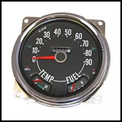 Omix-ADA Speedometer Assembly For 1955-79 CJ Series OE Style With Fuel & Temp Guages 0-90 Miles 17206.04