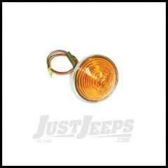Omix-ADA Parking Light Assembly with Amber Lens (Snap Ring Kind) 12V For 1955-68 Jeep 12405.01