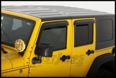 Auto Ventshade Ventvisors (4 Piece Kit) In Smoked Black For 2007-18 Jeep Wrangler JK Models 94249