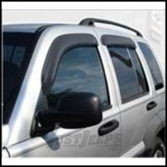 Auto Ventshade Ventvisors (4 Piece Kit) In Black For 2008-12 Jeep Liberty KJ Models 94964
