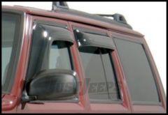 Auto Ventshade Aerovisor Window Deflector (4 Piece Kit) In Smoked Black For 1984-01 Jeep Cherokee XJ Models 95012