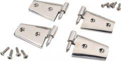 Rampage Door Hinges Polished Stainless 2 Pairs For 2007+ JK 2 & 4 Door (1 Kit Does 2 Doors) 87541