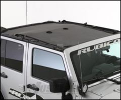 SmittyBilt Cloak Extended Mesh Top in Black Mesh For 2007-18 Jeep Wrangler JK Unlimited 4 Door Models 95500