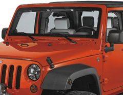 Rampage Euro Light Guards Black Powder Coated For 2007-18 Jeep Wrangler JK 2 Door & Unlimited 4 Door 6 Piece Set 85660