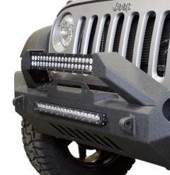 DV8 Offroad FS-17 Hammer Forged Front Bumper  For 2007-18 Jeep Wrangler JK 2 Door & Unlimited 4 Door Models FBSHTB-17 FBSHTB-17
