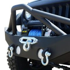 DV8 Offroad FS-12 Hammer Forged Front Bumper  For 2007-18 Jeep Wrangler JK 2 Door & Unlimited 4 Door Models FBSHTB-12 FBSHTB-12