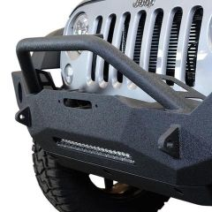 DV8 Offroad FS-18 Hammer Forged Front Bumper  For 2007-18 Jeep Wrangler JK 2 Door & Unlimited 4 Door Models FBSHTB-18 FBSHTB-18