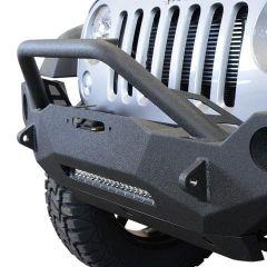 DV8 Offroad FS-19 Hammer Forged Front Bumper  For 2007-18 Jeep Wrangler JK 2 Door & Unlimited 4 Door Models FBSHTB-19 FBSHTB-19