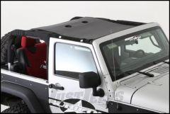SmittyBilt Cloak Extended Mesh Top in Black Mesh For 2007-18 Jeep Wrangler JK 2 Door Models 95100