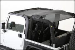 SmittyBilt Cloak Extended Mesh Top in Black Mesh For 1997-06 Jeep Wrangler TJ Models 95600