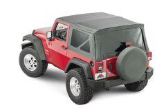 Crown Automotive Replacement Soft Top For 07-12 Wrangler JK w/ Full Steel Doors RT10935T